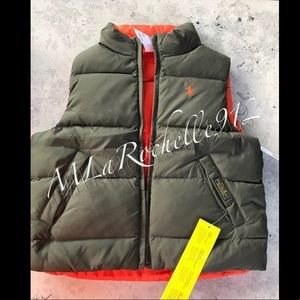New! Ralph Lauren boys reversible puffer vest